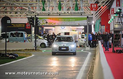 Démonstrations de voitures électriques