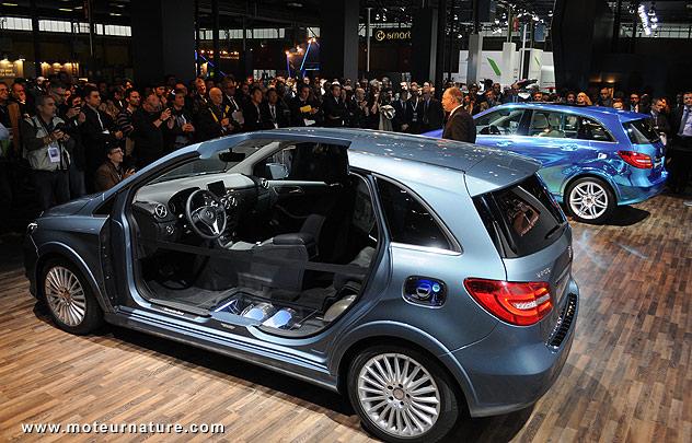 Mercedes classe B au salon de Bologne