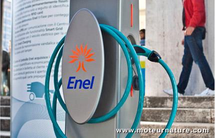 Borne de recharge AC 43 kW Enel