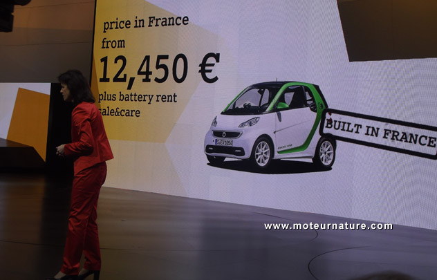 Smart electric car pricing unveiled in Paris