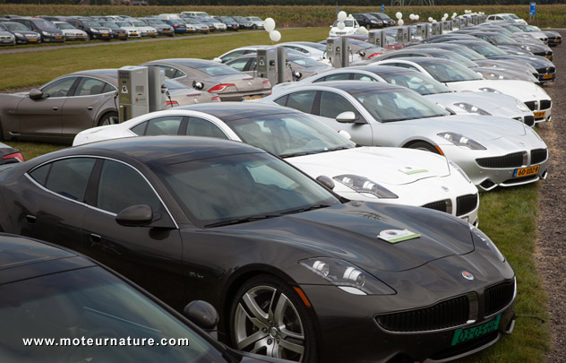 Fisker Karma en charge en Hollande
