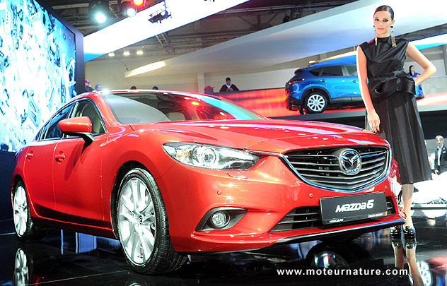2013 Mazda 6 unveiling at the Moscow motor show