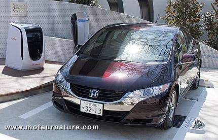 Station solaire d'hydrogène avec Honda FCX Clarity