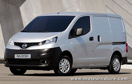 la version lectrique du nissan nv200 confirm e pour la. Black Bedroom Furniture Sets. Home Design Ideas