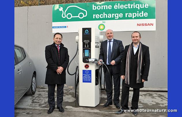 Borne de charge BP installée par Nissan