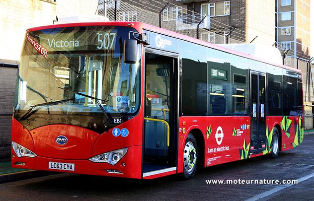 Bus électrique BYD à Londres