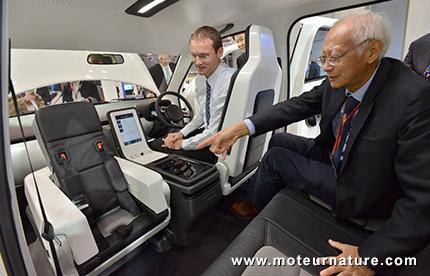 Un concept de taxi électrique pour Singapour