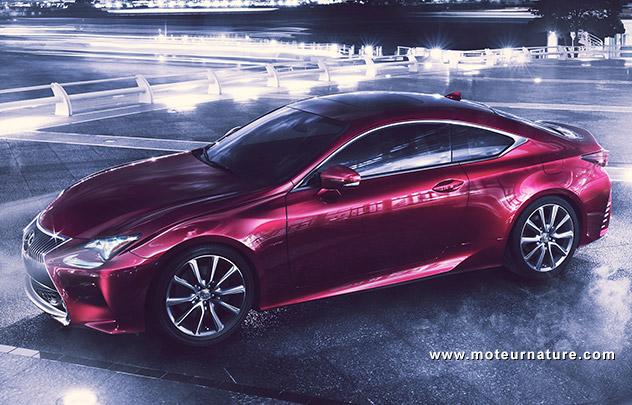 Lexus RC, coupé hybride