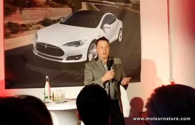 Une version haute vitesse de la Tesla Model S pour l'Allemagne