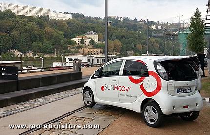 Smart community de Lyon, Mitsubishi électrique