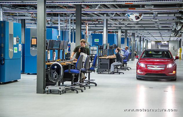 Merveilleux: le labo batteries de GM