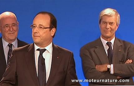 François Hollande a visité l'usine de batteries LMP de Vincent Bolloré