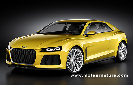audi sport quattro concept hybride rechargeable. Black Bedroom Furniture Sets. Home Design Ideas