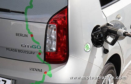 Skoda Citigo CNG GNV record tour