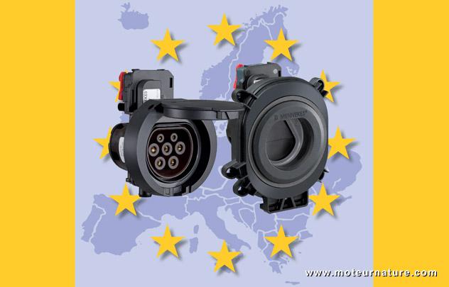 Prise pour voitures électriques au standard européen Type 2