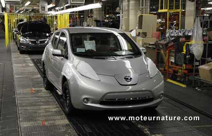 Nissan Leaf made in Tennessee